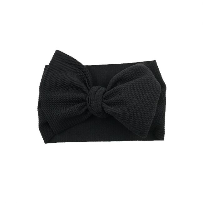 The Berry Street - Waffle Bow - Black