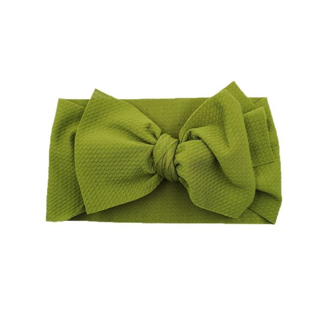 The Berry Street - Waffle Bow - Deep Green