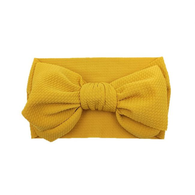The Berry Street - Waffle Bow - Mustard Yellow