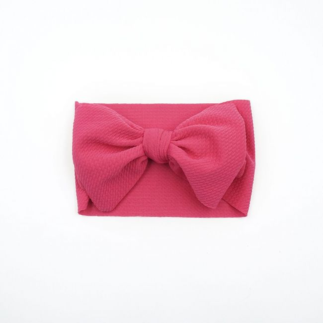The Berry Street - Waffle Bow - Rose Pink