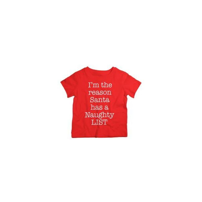 Twinkle Hands - I am The Reason Santa Has a Naughty List - Christmas Tshirt - Red