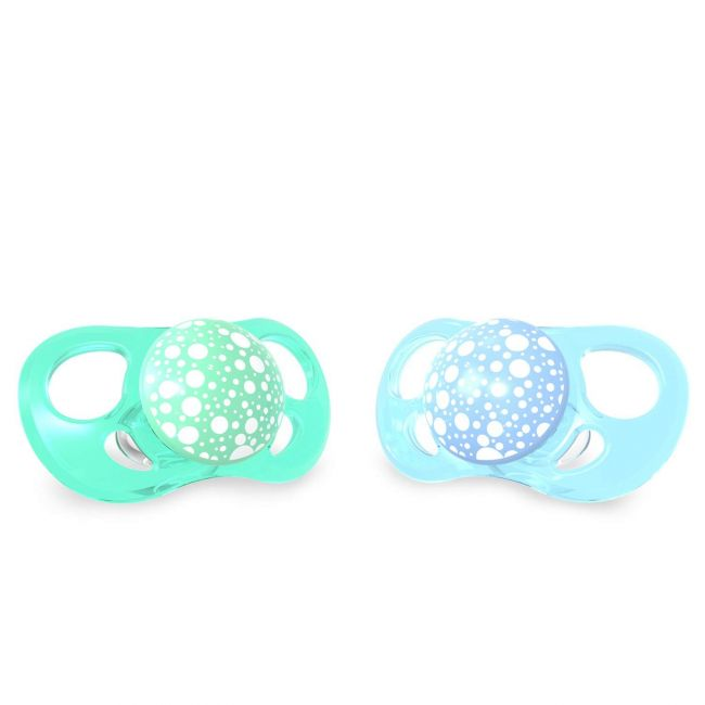 Twistshake - 2X Pacifier - 6+M - Pastel Blue Green