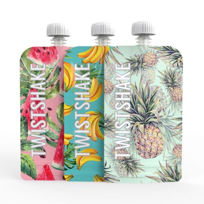 Twistshake - 3x Squeeze Bag - Fruit, 220ml