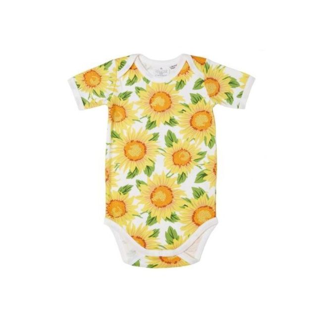 Two Tykes Short Sleeve Sunflower Baby Suit