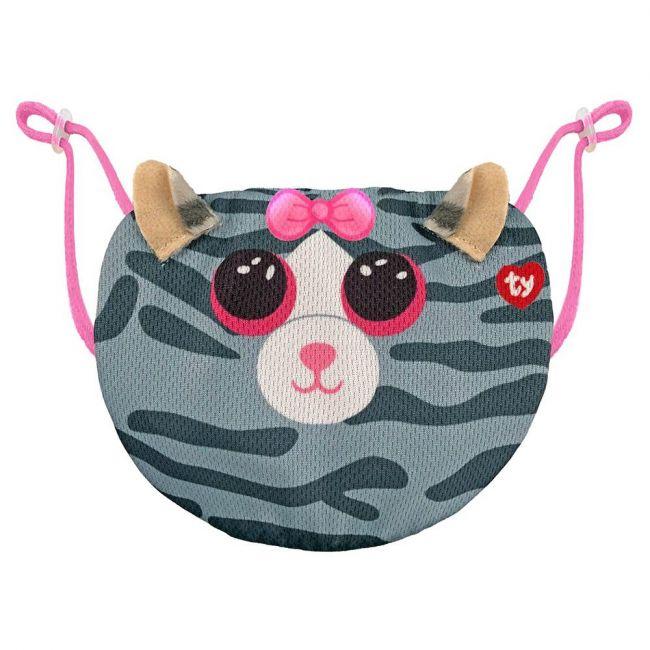 Ty - Beanie Boo Face Mask Cat Kiki - Grey