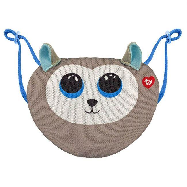 Ty - Beanie Boo Face Mask Husky Slush - Grey