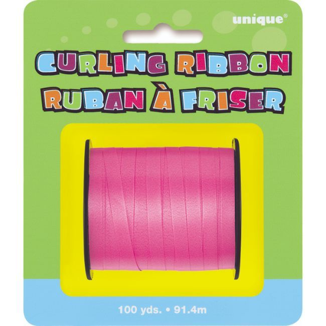 Unique - 100 Yards Hot Pink Curling Ribbon