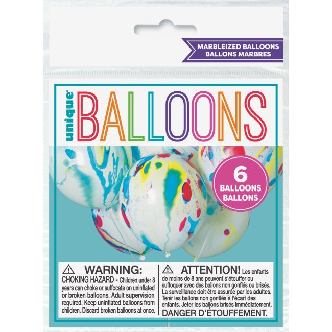 "Unique - 12"" Marbleized Balloons"