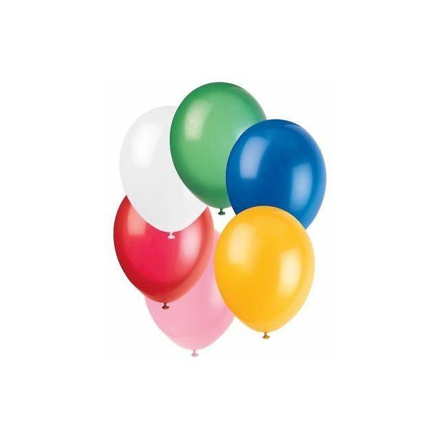 "Unique - 12"" Standard Assorted Premium Balloons - Pack Of 50"