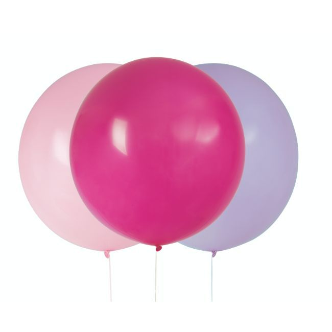 """Unique - 24"""" Purple/Pink/Hot Pink Giant Balloons"""