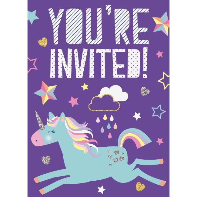 Unique - 8 Unicorn Invites