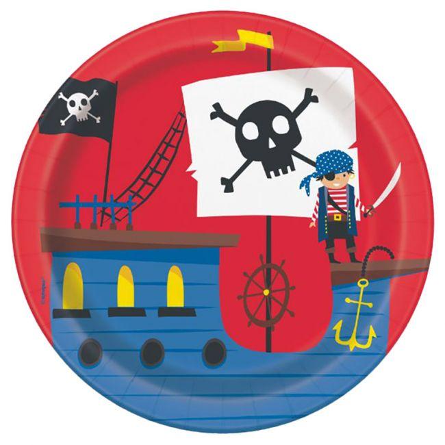 """Unique - Ahoy Matey Pirate 7"""" Plate"""
