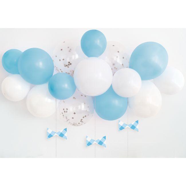 Unique - Blue Gingham 1St Birthday Balloon Arch Kit