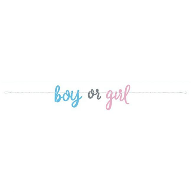 Unique - Gender Reveal Script Banner 7 Ft.