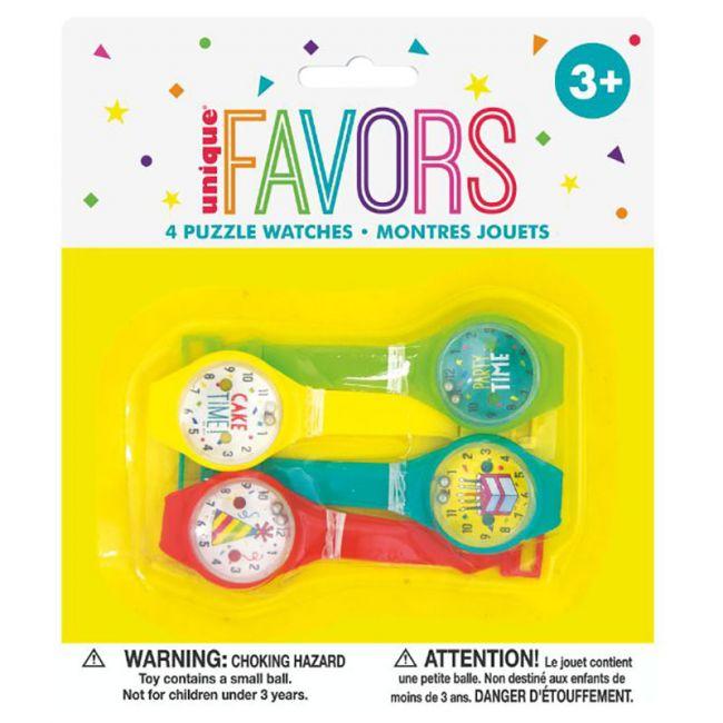 Unique - Pack of 4 Puzzle Watches