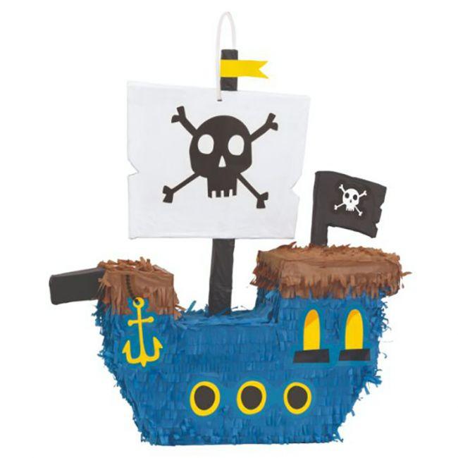 Unique - Pirate Ship 3D Pinata - Blue