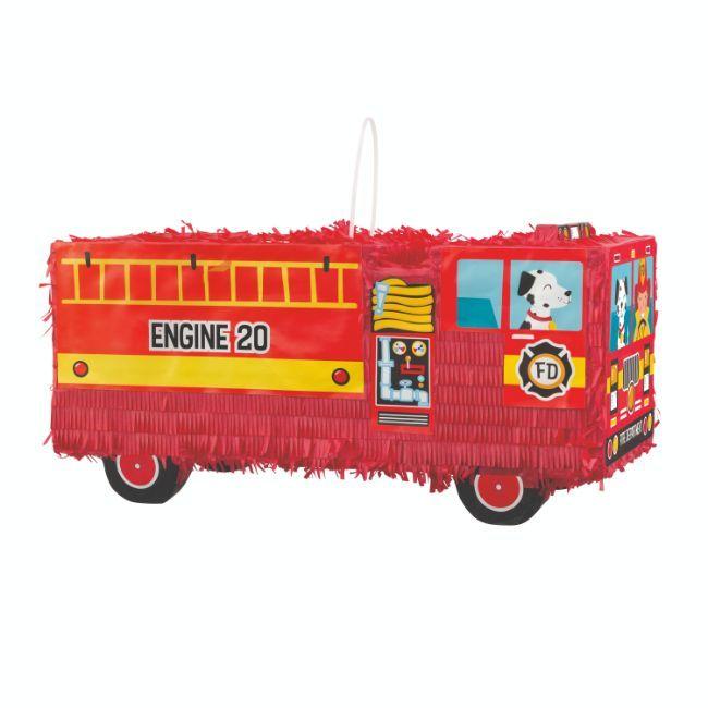 Unique - Red Fire Truck 3D Pinata