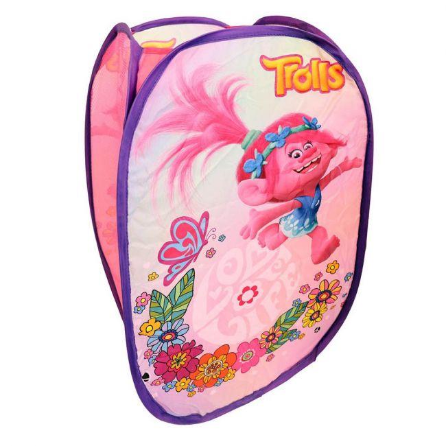 Universal - Trolls Hamper Laundry Toys Washing Tidy Bin Storage Pop Up Basket Kids Bag