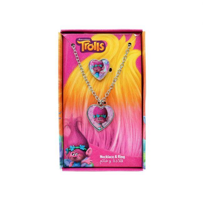 Universal - Trolls Metal Necklace & Rings Set