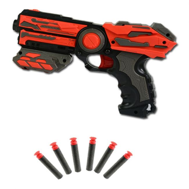 Rollup Kids - Soft Bullet Gun With 6 Bullets
