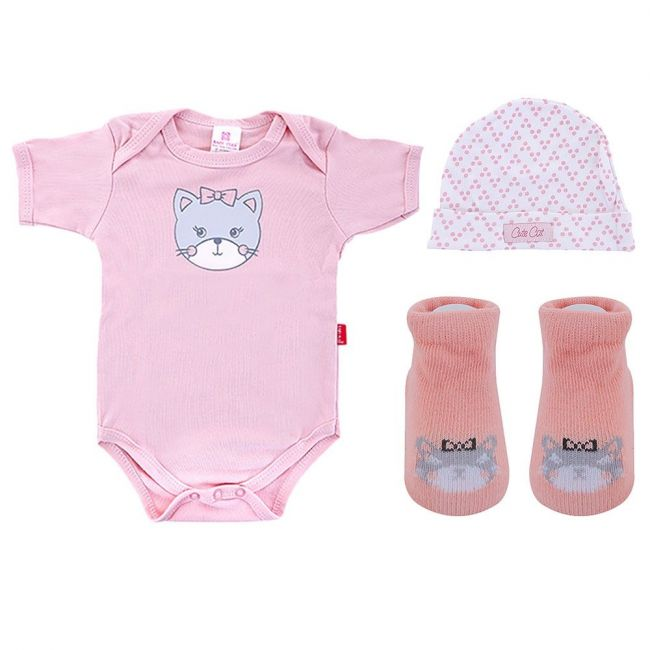 Baby Plus - Newborn Girl Essentials 3pc Gift Set - Pink