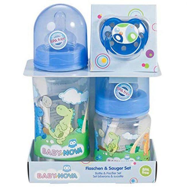 Baby Nova - Wide Neck Feeding Bottle Set & Pacifier