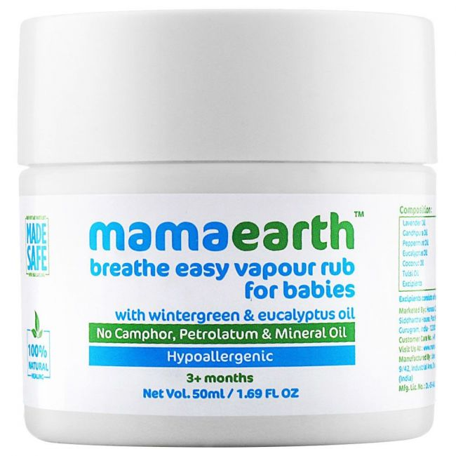 Mama Earth - Natural Breathe Easy Vapour Rub Balm 50 G