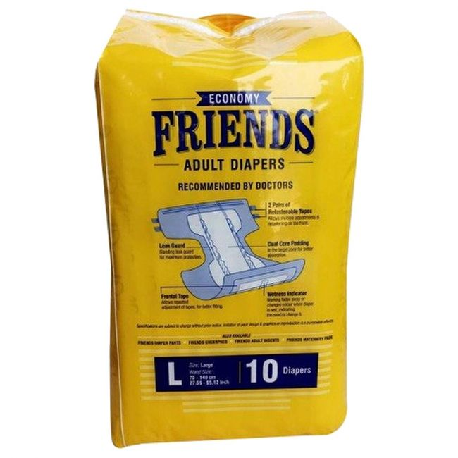 Friends - Adult Diapers Economy Large 10 s
