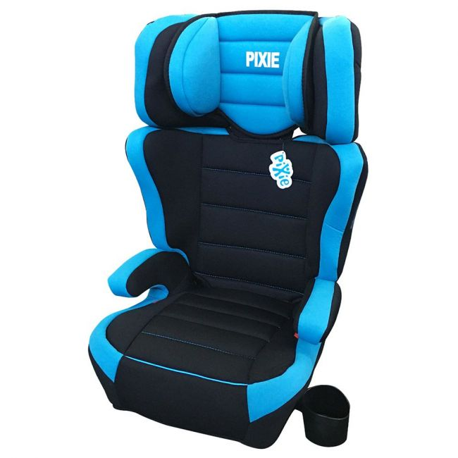 Pixie 3-In-1 Multi-Adjustable Car Seat W/ Cup Holder, Blue