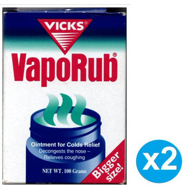 Vicks - 10% Vaporub - 100g (Twin Pack)