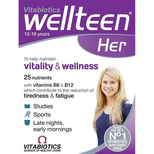 Vitabiotics Wellteen Her 30 Tablets