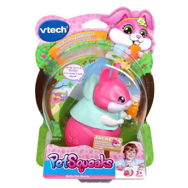 Vtech - Pet Squeaks Betty The Bunny Pink Version