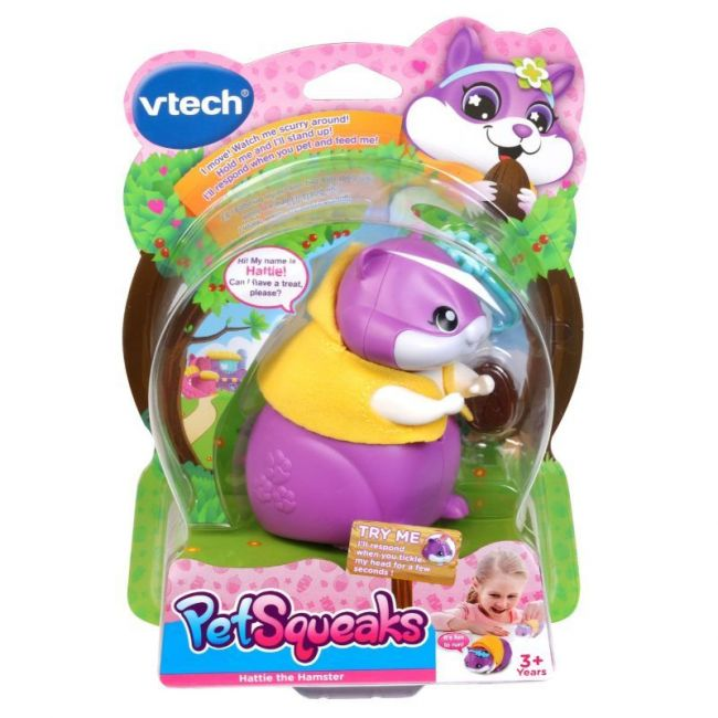 Vtech - Pet Squeaks Tm Hattie The Hamster Purple Version