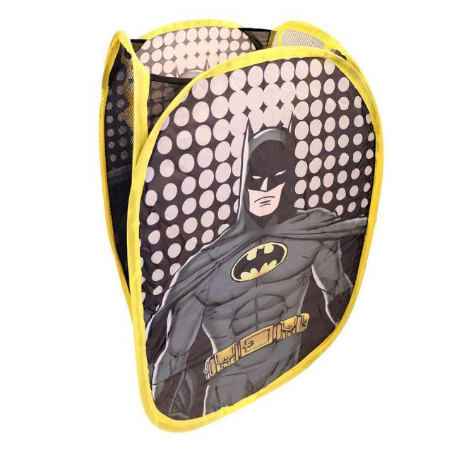 Warner bros - Dc Batman Hamper Laundry Toys Washing Tidy Bin Storage Pop Up Basket Kids Bag