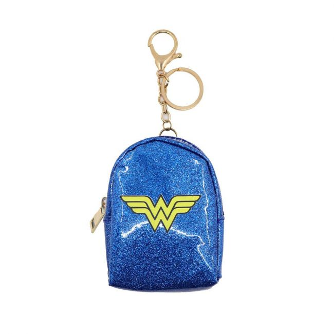 Warner bros - Dc Comics Wonder Women Keyring With Coin Pouch Glitter Badge Print Pouch