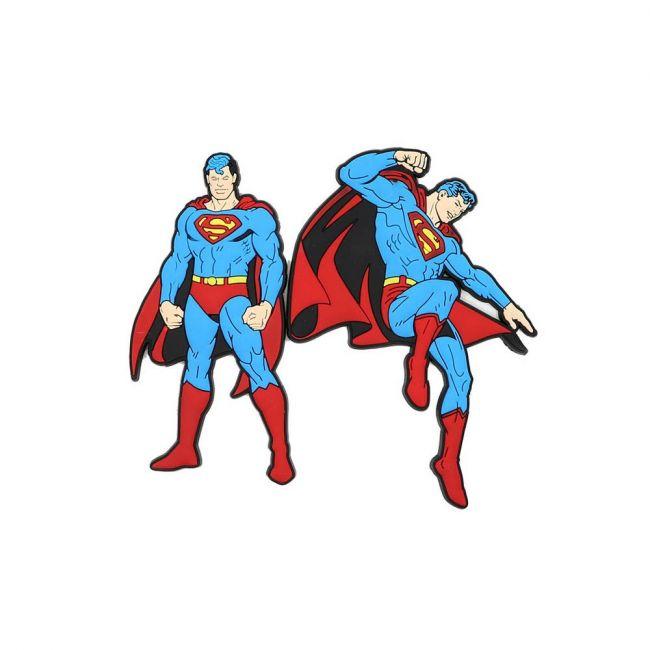 Warner bros - Superman Pack Of 2 Soft Pvc Fridge Refrigerator Magnet