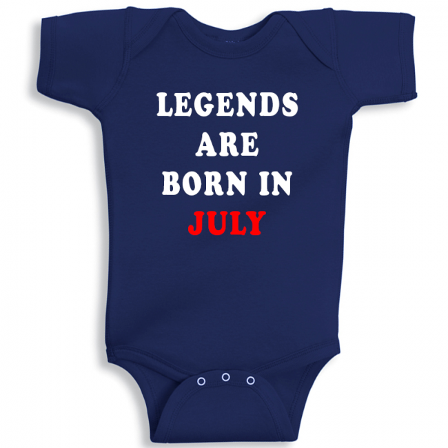 Twinkle Hands Legends Are Born In July Baby Onesie