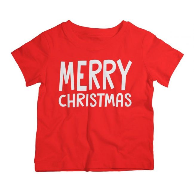 Twinkle Hands - Merry Christmas T-Shirt - Red