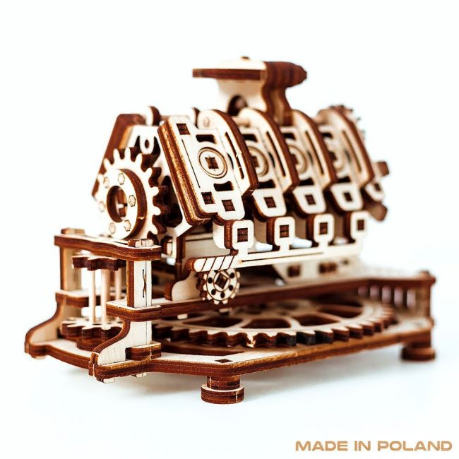 Wooden City 3D V8 Engine Model - Toys