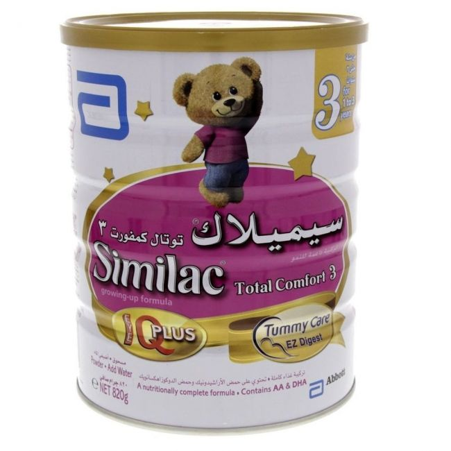 Similac - Total Comfort Stage 3 Growing Up Formula Milk 820G From 1-3 Years