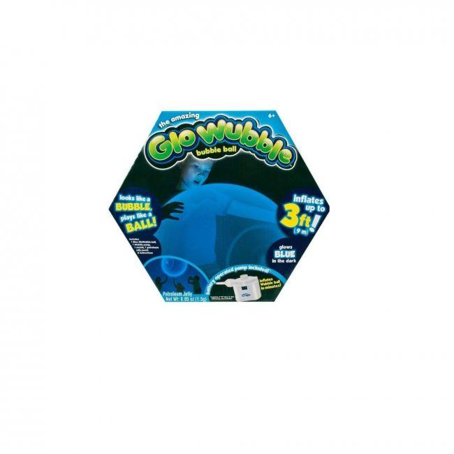 Wubble Bubbles - Glo Super Wubble Ball With Pump Asst 3 Glo Blue