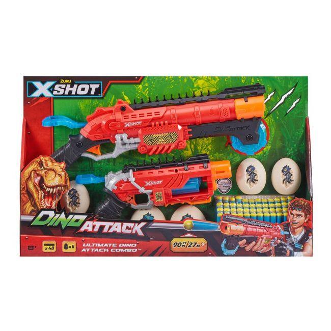X Shot - Dino Attack Ultimate Dino Attack Combo (2X Blasters, 48 Darts, 6 Eggs)