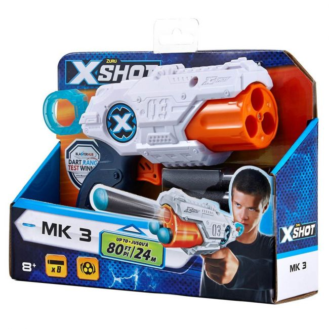 X Shot - Excel-Mk 3 (8 Darts) Open Box,Bulk,6Pcs,No Inner,Std Color