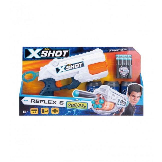 X Shot - Excel Reflex 6 3 Cans 8 Darts