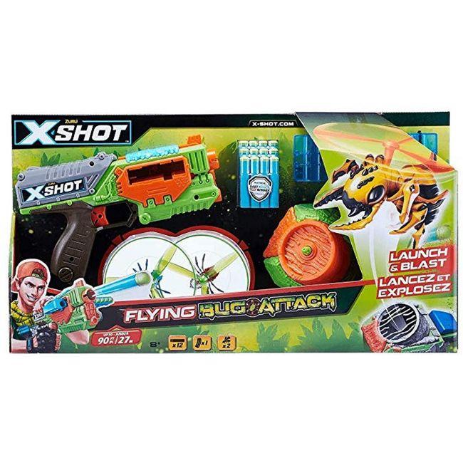 X Shot - Zuru X Shot - Bug Attack Swarm Seeker 2 Pk 3 Flying Bugs 24 Darts 1 Bug Launcher