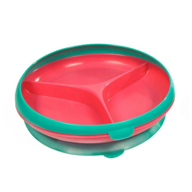 The First Years Green/Red Inside Scoop Kid's Suction Section Plate