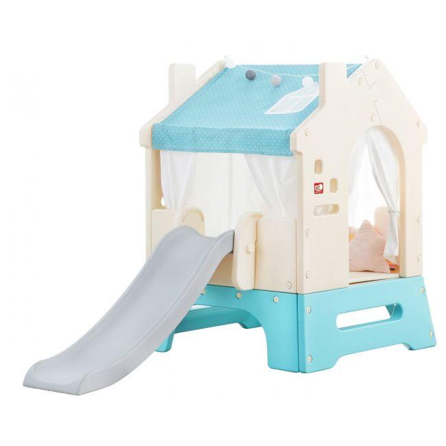 Yaya - Bunker Play House With Slide - Mint Bundle