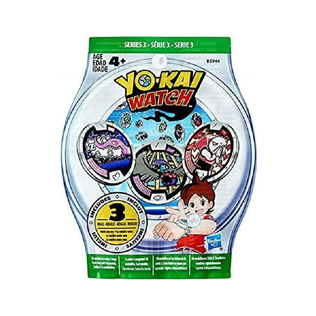 Yokai Watch - Medals Blind Bag With 3 Medals