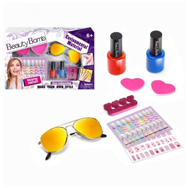 ZG - Kids Nail Art Set With Sunglasses