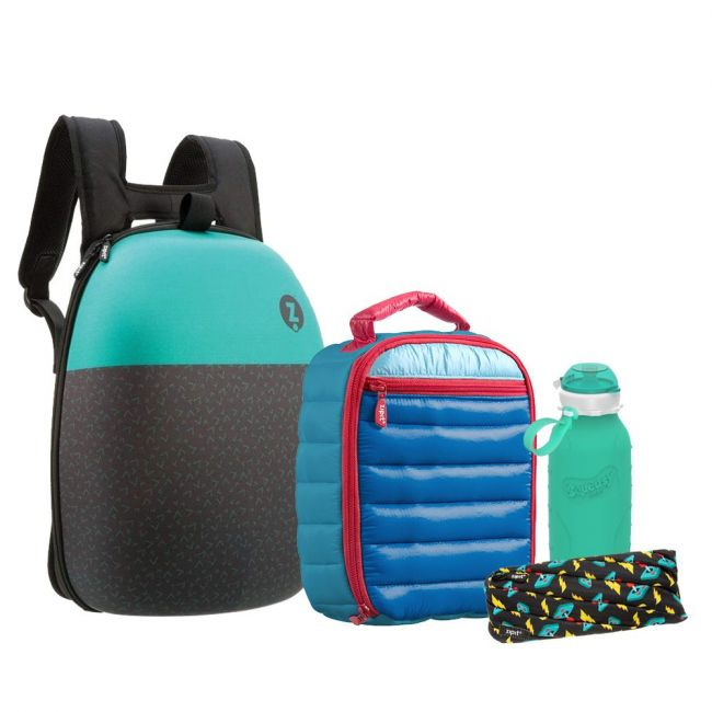 Zipit - Back To School - Backpacks + Pouches + Lunch Bags + Bottles-Blue